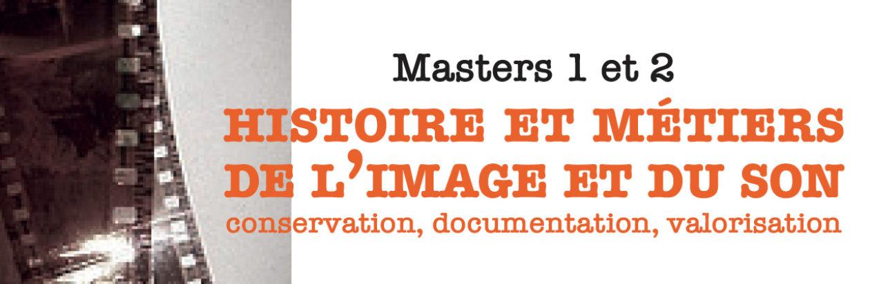 Master Histoire et Métiers de l'image et du son, UPEC
